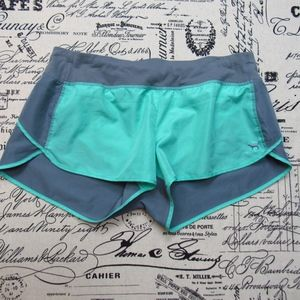 PINK Gray and Teal Running Shorts M             A4